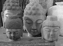Têtes en pierre de Bouddha Photo libre de droits