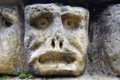 Têtes en pierre hantées Photo libre de droits