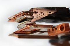 Têtes magnétiques de vieille unité de disquettes Images libres de droits