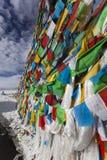 Tíbet: indicadores tibetanos del rezo Imágenes de archivo libres de regalías