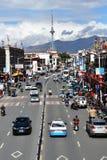 Tíbet, Lasa, China, junio, 03, 2018 Tíbet, Lasa, China, junio, 02, 2018 Tíbet, gente que camina en el centro de Lasa imagenes de archivo
