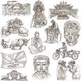 tíbet Viaje - imágenes de la vida Dibujos de la mano Foto de archivo