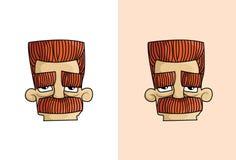 Tío enojado Cartoon Face Fotografía de archivo