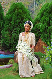 Típicamente, Sri Lankans se casa más adelante que gente en otros países asiáticos Imagenes de archivo