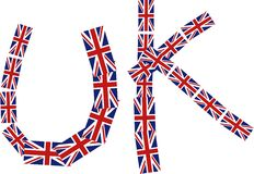 Título britânico ilustração stock
