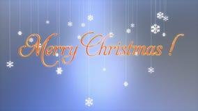 Título con las escamas de papel flotantes, mate de la Feliz Navidad de Luma ilustración del vector