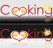 Título da arte para o livro da receita que cozinha o logotipo do negócio Foto de Stock Royalty Free
