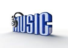 Título da música Imagens de Stock Royalty Free