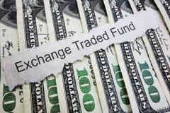 Título da notícia de ETF Foto de Stock Royalty Free