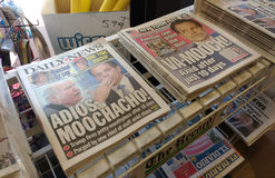 Título de Anthony Scaramucci New York Newspaper, EUA imagens de stock royalty free