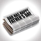 Título de jornal feliz do dia de pais ilustração do vetor