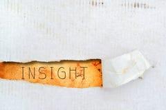 Título de la penetración en el papel viejo imagen de archivo libre de regalías