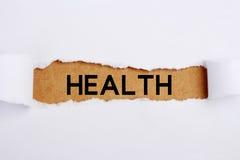Título de la salud Imágenes de archivo libres de regalías