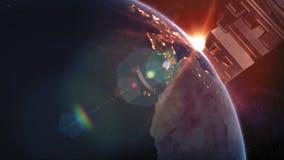 Título de la tierra del planeta - la tierra del espacio que los muestra a todos belleza almacen de metraje de vídeo