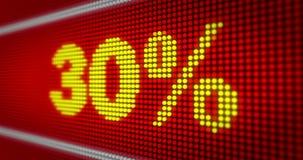 Título de la venta LED stock de ilustración