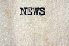 Título de las noticias Imágenes de archivo libres de regalías