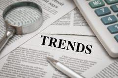 Título de las tendencias imagen de archivo