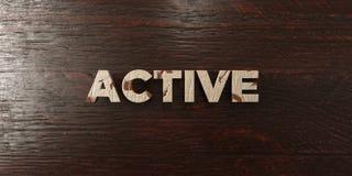 - Título de madera sucio en arce - 3D activo rindió imagen común libre de los derechos stock de ilustración