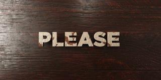 - Título de madera sucio en arce - 3D rindió por favor imagen común libre de los derechos Foto de archivo