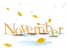 Título de novembro ilustração stock
