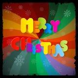 Título de papel de la Feliz Navidad Imagen de archivo libre de regalías