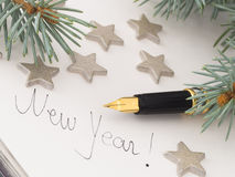 Título del Año Nuevo Foto de archivo libre de regalías