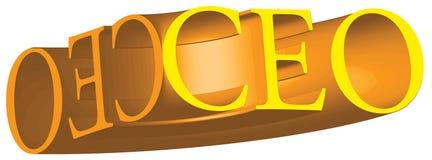 Título del director general del CEO en el oro 3D Fotografía de archivo