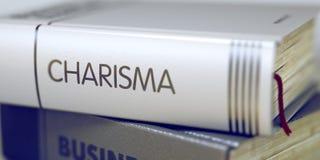 Título del libro del carisma 3d foto de archivo