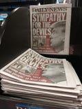 Título diario de las noticias del triunfo Imágenes de archivo libres de regalías