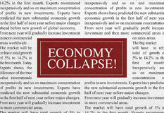 Título do colapso da economia Fotos de Stock