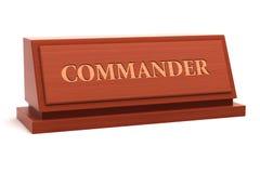 Título do comandante ilustração royalty free
