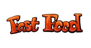 Título do fast food ilustração royalty free
