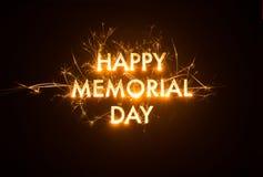 Título FELIZ Sparkly de MEMORIAL DAY Fotos de Stock Royalty Free