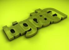 Título grande dos dados 3D Foto de Stock Royalty Free