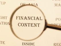 Título para o jornal para o ` satisfeito financeiro do ` do artigo Fotos de Stock