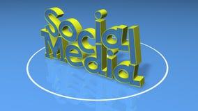 Título social de los media 3D Foto de archivo