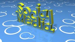 Título social do conceito dos media Fotos de Stock Royalty Free