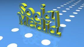 Título social do conceito dos media Fotografia de Stock