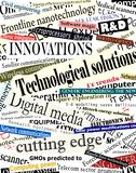 Títulos de la tecnología Imagen de archivo libre de regalías