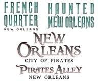 Títulos de New Orleans del barrio francés fotografía de archivo