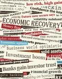 Títulos financieros de la recuperación Fotos de archivo