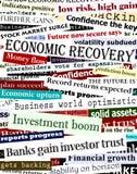 Títulos financieros de la recuperación Fotografía de archivo libre de regalías