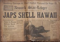 Títulos históricos de la guerra mundial imagen de archivo libre de regalías