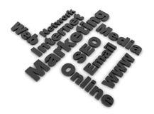 Tópicos do mercado do Internet ilustração royalty free