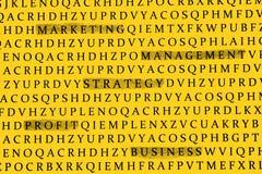 Tópicos do negócio Imagem de Stock