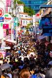 Tóquio aglomerado V dos clientes de Harajuku da rua de Takeshita Foto de Stock Royalty Free