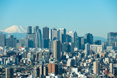 Tóquio com Monte Fuji Fotos de Stock Royalty Free
