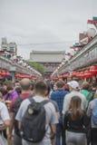 TÓQUIO - 30 DE MAIO: Rua da compra de Nakamise em Asakusa, Tóquio em 3 Fotografia de Stock