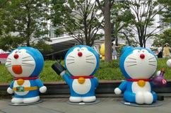 Tóquio de Roppongi, o 18 de julho de 2016 - exposição de Doraemon na zona aberta Fotos de Stock Royalty Free