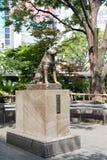 Tóquio, Japão - 29 de abril de 2017: Estátua do cão de Hachiko imagem de stock